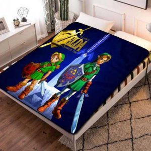 The Legend of Zelda Ocarina Of Time Fleece Blanket Quilt