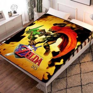 The Legend of Zelda Ocarina Of Time Quilt Blanket Fleece Throw
