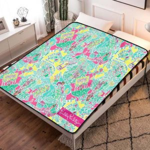 Lilly Pulitzer In The Beginning Fleece Blanket Throw Bed Set