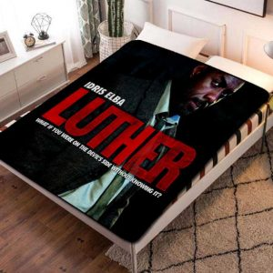 Luther TV Series Fleece Blanket Throw Bed Set