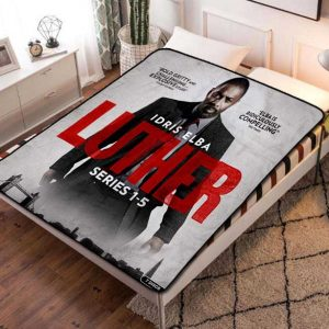 Luther Series Fleece Blanket Throw Bed Set