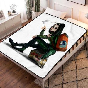 Mantis Cartoon Fleece Blanket Throw Quilt