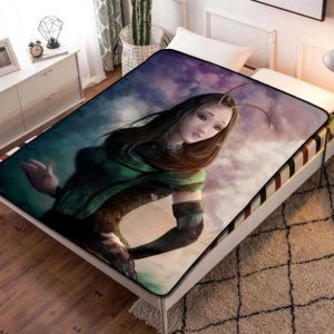 Mantis GOTG Fleece Blanket Throw Bed Set