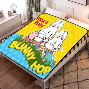 Max And Ruby Fleece Blanket Throw Bed Set