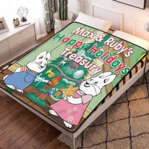 Max & Ruby Holidays Quilt Blanket Fleece Throw