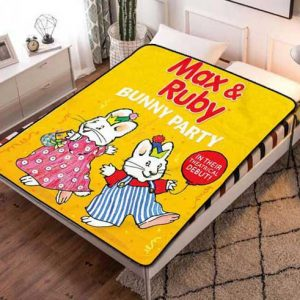 Max And Ruby Characters Fleece Blanket Throw Bed Set