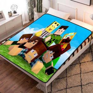 Minecraft Steve Fleece Blanket Throw Bed Set