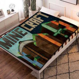 Minecraft Diamond Fleece Blanket Throw Bed Set
