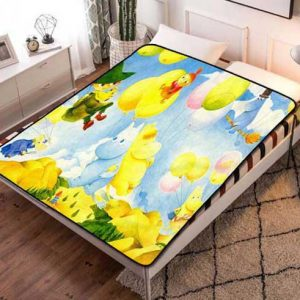 Moominvalley Fleece Blanket Throw Bed Set