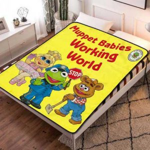 Muppet Babies Working World Quilt Blanket Fleece Throw