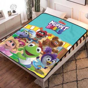 Muppet Babies Fleece Blanket Throw Bed Set