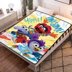 Muppet Babies Yippee Quilt Blanket Throw Fleece
