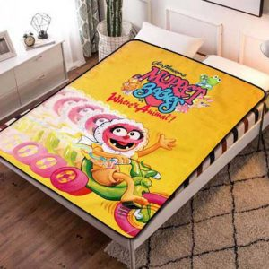 Muppet Babies Where's Animal Quilt Blanket Fleece Bed Set