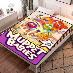 Muppet Babies Let's Build Fleece Blanket Throw Quilt