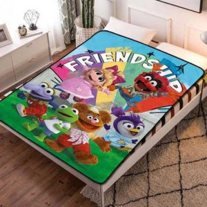 Muppet Babies Cartoon Fleece Blanket Throw Bed Set