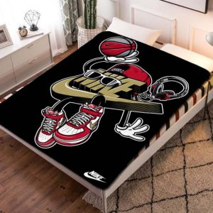 Nike Shoes Fleece Blanket Quilt