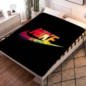 Nike Colorful Logo Fleece Blanket Throw Quilt