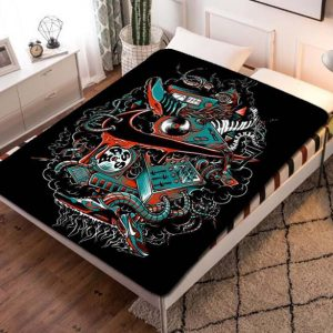 Nike Dark Graffiti Quilt Blanket Fleece Bed Set