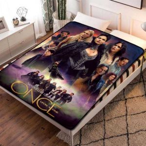 Once Upon a Time Characters Fleece Blanket Throw Quilt