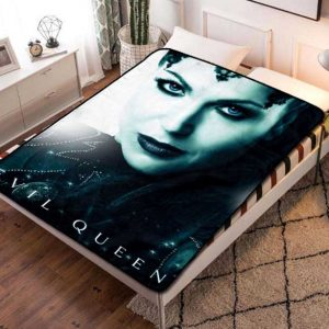 Once Upon a Time Evil Queen Fleece Blanket Throw Quilt