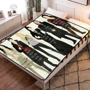 Once Upon a Time Details Fleece Blanket Throw Bed Set