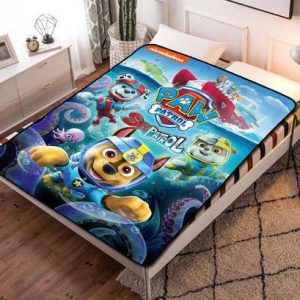 Chillder Paw Patrol Blanket. Paw Patrol Fleece Blanket Throw Bed Set Quilt Bedroom Decoration.