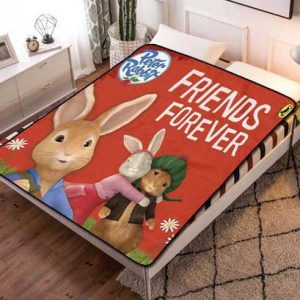 Peter Rabbit Friends Forever Fleece Blanket Quilt