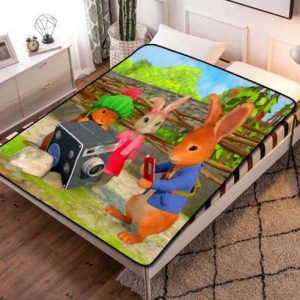 Peter Rabbit Fleece Blanket Throw Quilt