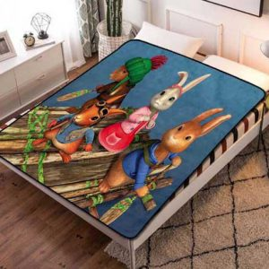 Peter Rabbit Cartoon Fleece Blanket Quilt