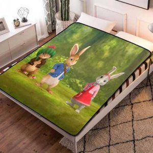 Peter Rabbit Wallpaper Fleece Blanket Throw Bed Set
