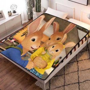 Peter Rabbit Fleece Blanket Throw Bed Set
