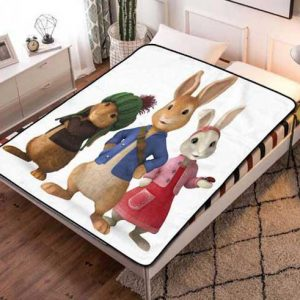 Peter Rabbit Characters Fleece Blanket Throw Quilt