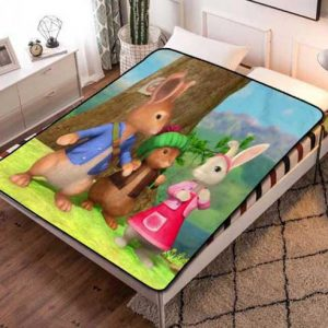 Peter Rabbit Cartoon Fleece Blanket Throw Quilt