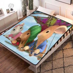 Peter Rabbit Flying Fleece Blanket Throw Quilt