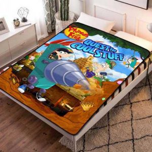 Phineas and Ferb Quest Cool Stuff Fleece Blanket Throw Quilt