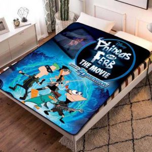 Phineas and Ferb The Movie Fleece Blanket Throw Quilt
