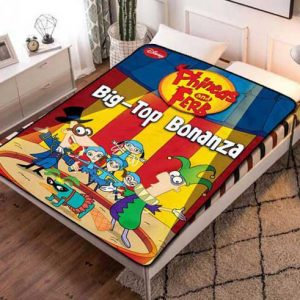 Phineas and Ferb Big Top Bonanza Fleece Blanket Throw Quilt