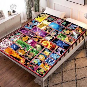 Pokemon Cartoon Fleece Blanket Throw Bed Set