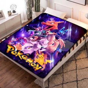 Pokemon Kids Fleece Blanket Throw Bed Set