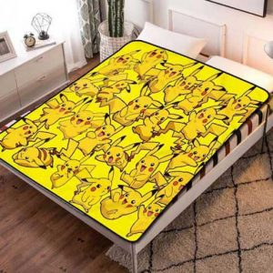 Pokemon Design Fleece Blanket Throw Bed Set