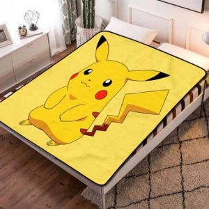 Pokemon Style Fleece Blanket Throw Bed Set