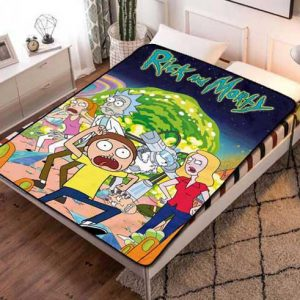 Rick And Morty Poster Fleece Blanket Throw Quilt