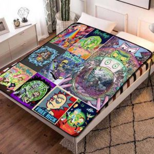 Rick And Morty All Seasons  Fleece Blanket Throw Quilt