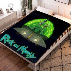 Rick And Morty Shows Fleece Blanket Throw Bed Set