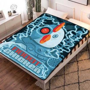 Robot Chicken Fleece Blanket Quilt