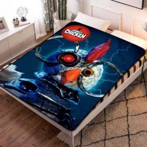 Robot Chicken Kids Fleece Blanket Throw Bed Set