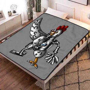 Robot Chicken Fleece Blanket Throw Bed Set