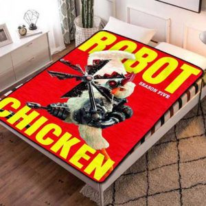 Robot Chicken Season 5 Quilt Blanket Fleece Bed Set