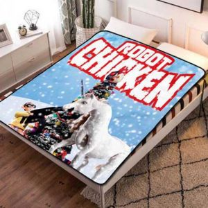 Robot Chicken Characters Fleece Blanket Throw Quilt