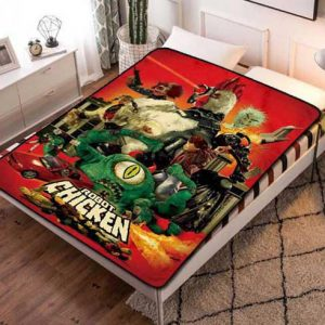 Robot Chicken Characters Fleece Blanket Quilt